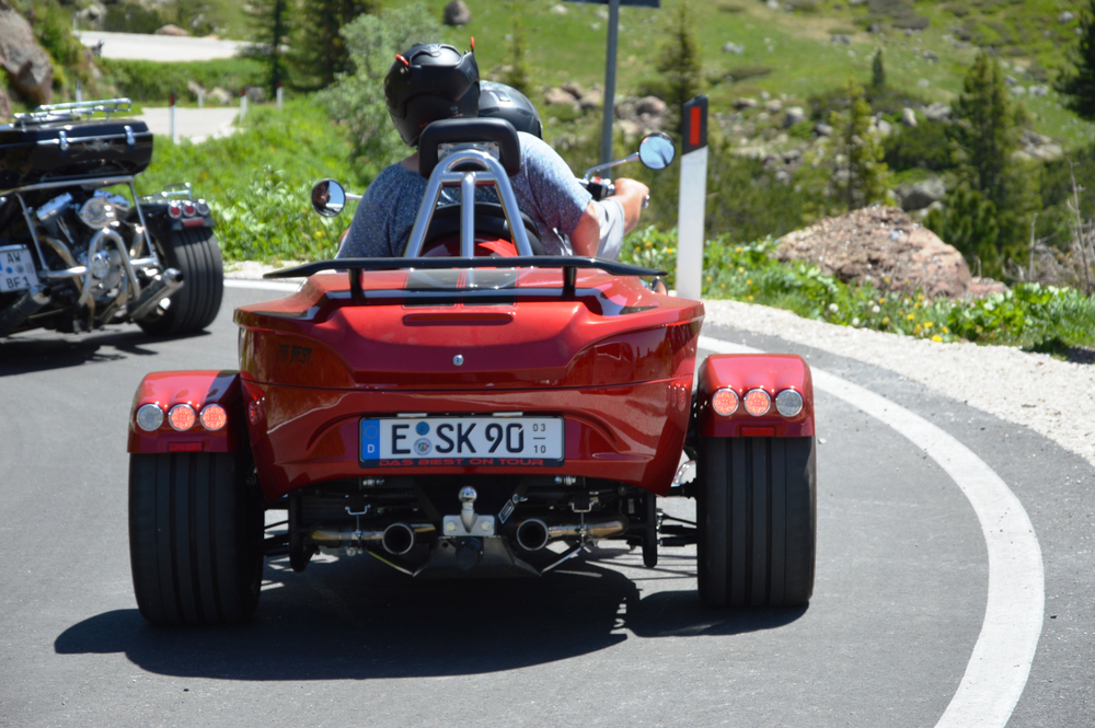 Is a motor trike safer than a 2 wheel motorcycle?